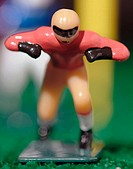 Plastic figurine defending the goal line