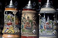 10761262, Allgäu, Alpine region, memory, souvenir, Bavaria, beer mugs, beer mug, jugs, jug, Germany, Europe, Europe, present,