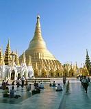 Shwedagon Pagoda. Yangoon. Myanmar