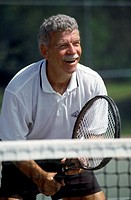 FV6223, Thomas Fricke, Senior Man Playing Tennis, Charlottetown,PEI