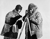 Photograph of Byrd (1888-1957) taken during United States Antarctic expedition. Byrd travelled to both the North and South Poles. On 9 May 1926, he fl...