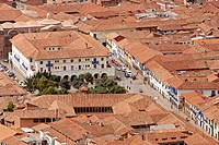 Tiled rooftops. Cuzco. Peru