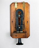 This box telephone, which was previously used at Lloyds signal station in Crookhaven, represents one of Alexander Graham Bell's (1847-1922) earliest e...