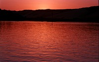 Red Sunset Over Nile
