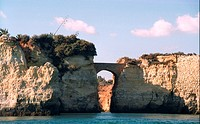 Bridge Connecting Rocks