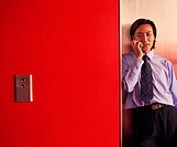 Chinese Executive on Cellular Phone