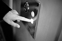 Finger Pressing Elevator Button