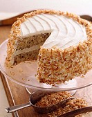 Nut Cake with Toasted Coconut