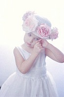 Little Girl In Flowered Hat