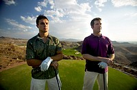 portrait of golf buddies