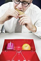 Executive with Lunchbox