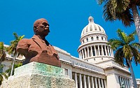 Bust in front of the Capitolio Nacional. Havana, Cuba