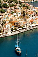 Yalos harbour, Symi. Dodecanese, Greece