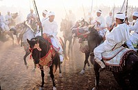 ´Fantasia´ festival for ´Moussem´ (meeting) of Moulay Abdalah near el-Jadida. Morocco