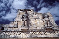 architecture, cultural site, detail, Estado de Yucatan, historical, Kabah, Maya culture, Mexico, Central America, Am