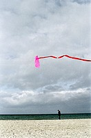 sandy beach, to fly a kite