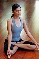 Indian girl doing yoga