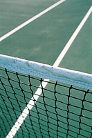 a tennis net and tennis court