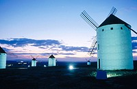 Windmills. Campo de Criptana. Ciudad Real province. Castilla-La Mancha. Spain (Route of Don Quixote)