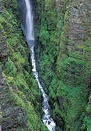 Iceland, Botnsa River, Glymur - Water flowing through rocks