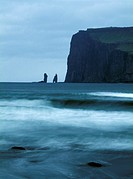 Strange shaped rocks in Faroe Islands