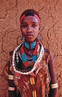 Girl of Hamer tribe. Ethiopia