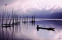 Inner lake inside Bali, Indonesia