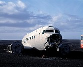 Wreckage of airplane