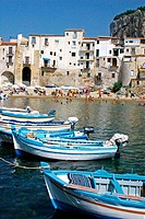 Harbour in Cefalu. Sicily. Italy