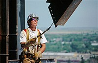 Ironworker, 'Tagman'. Esquire Plaza Building. Sacramento, California. USA
