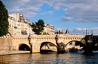 Pont Neuf bridge. Along Seine River. Paris. France
