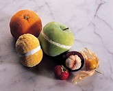 fruits with ice cream