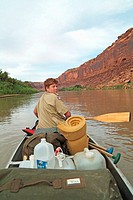 Canoe trip down the Green River in Utah, USA