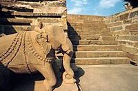 Elephant sculpture. The Erotic Temples of Khajuraho. Madhya Pradesh. India