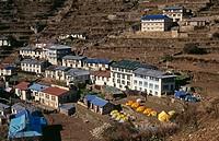 Namche Bazaar, Himalaya Region. Nepal