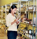 Woman Shopping in a Health Food Store