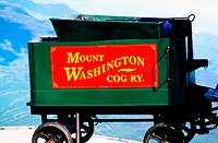 Mount Washington Cog Railway. Presidential Mountains, New Hampshire. USA