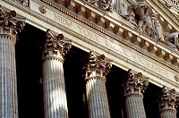 Fa&#231;ade of the New York Stock Exchange. New York city, New York. USA