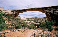 Owachomo Bridge. Natural Bridges National Monument. Utah. USA