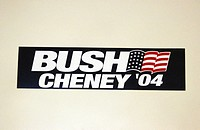 2004 presidential campaign: A Bush/Cheney bumper sticker.