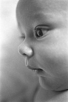 Profile of newborn baby
