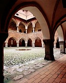 Courtyard of medieval castle. Lidzbark Warminski. Northern Poland