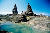 Roca Rinoceronte ('Rhino Rock'), Remo beach, Arguamul. La Gomera, Canary Islands. Spain