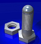 Illustration, bolt, nut