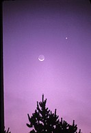 Moon and Venus conjunction, October 2, 1985.