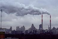 Air pollution from power plant.