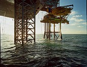 Oil rig supports, off shore drilling.