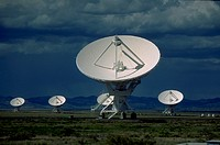 Group of VLA (Very Large Array) antennae, NM, USA.