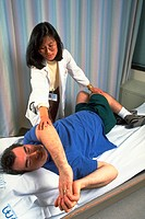 Physical therapy against sports injury.