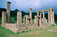 Antas temple. Roman. Dedicated to Sardus Pater Babai, the Sardinian people's eponymous god.  Fluminimaggiore. Province of Cagliari. Sardinia, Italy